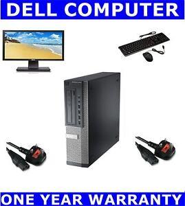 """DELL COMPUTER PC  22"""" WIDESCREEN MONITOR WINDOWS 10 / 7 16GB RAM 1TB  525GB SSD"""