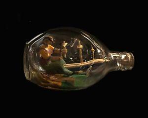 """Vintage Folk Art in a Bottle 6.25""""X3.25"""""""