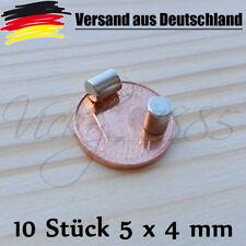 10 Stück Neodym Magnete Scheibenmagnete Zylindermagnete 4 x 5 mm Pinnwand L0145
