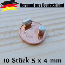 10 St. Magneti al Neodimio Dischi Magneti cilindro MAGNETI ⌀ 4 x 5 mm bacheca l0036