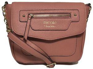 NWT Nicole Miller Woman's Cross Body, Blush Color, Adjustable Shoulder Strap