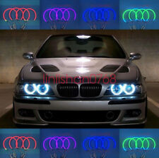 4x Cotton RGB LED Angel Eyes Halo Rings DRL FOR BMW E36 E38 E39 E46 3 5 7 Series