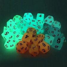 7pcs/set Multi Sides Dice 4 Color TRPG Game Dungeons & Dragons Luminous D4-D20