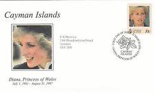 (02028) Cayman Islands FDC Princess Diana Death 31 March 1998