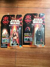 Hasbro Star Wars: Episode 1 - Darth Sidious  And Ric Olie Action Figure Lot Of 2