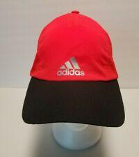 Adidas Baseball Cap Hat Soft Shell Neon Orange and Black Logo in Reflective Gray