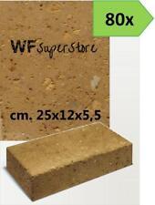 Mattoni in tufo 25x12x5,5 - 80 pezzi - muro pavimento cordolo bordura giardino