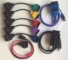 DIAGNOSTIC CABLE ALFA FIAT ELM, KKL VAG OBD2, 3-PIN, 5 ADAPTERS MULTIECUSCAN