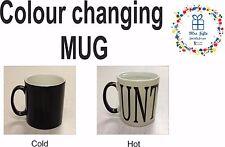Magic mug, Colour changing mug, CUNT-MUG, Rude Naughty Novelty mug, gifts ideas