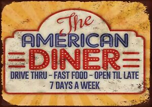 American diner sign Metal Wall Sign
