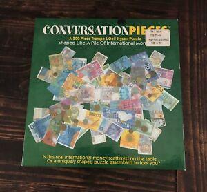 Vintage Conversation Pieces 500 PC Jig Saw Puzzle Money Currency 1999