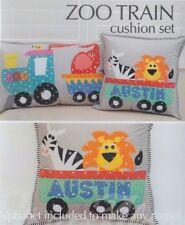 PATTERN - Zoo Train Cushion Set - fun applique pillows PATTERN - Sew Along