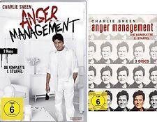 5 DVDs *  ANGER MANAGEMENT - STAFFEL 1 + 2 - Charlie Sheen  # NEU OVP $