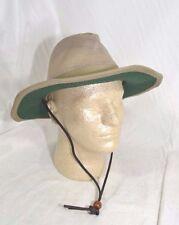 Dorfman Pacific Global Trends Brushed Twill Safari Hat Mesh Olive Green M or L