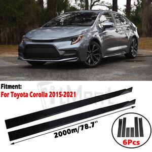 For Toyota Corolla 2015-2021 78.7'' Side Skirt Extension Body Kit Lip Splitters