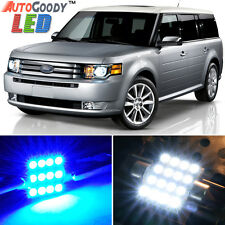 10 x Premium Blue LED Lights Interior Package for Ford Flex 2009-2017 + Tool