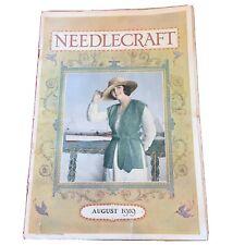 Needlecraft Magazine August 1919 antique ads from cream of wheat