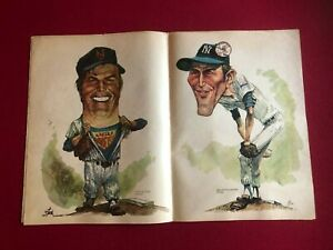 1973, NY Daily News, Mets / Yankees Caricatures (Seaver / Mays) Scarce / Vintage