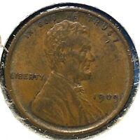 1909 VDB 1C Lincoln Cent (60754)