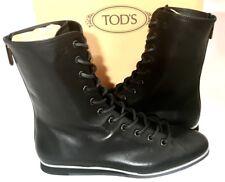 "TODS ""Pugile Sportivo"" Boots Stiefel schwarz Leder black Leather NEU Originalbox"