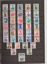 1948 Trachtensatz 37 Werte komplett Postfricsh ** MNH ANK 887 - 923 € 450,--