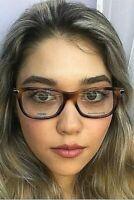 New FENDI FF 0037 91Y 52 mm Tortoise Rx Women's Eyeglasses Frames Italy