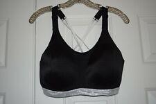 Victoria's Secret Victoria Sport size 36DD black & silver glitter sports bra