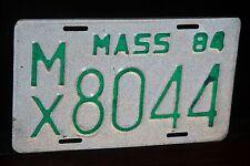 1984 MASSACHUSETTS License Plate * Motorcycle ***  MC ** '84 MASS