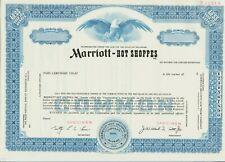 Marriott-Hot Shoppes Specimen Stock Certificate Hotels
