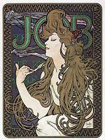 ADVERT JOB CIGARETTE PAPER PARIS FRANCE MUCHA POSTER ART PRINT PICTURE BB1844A