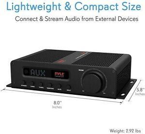 Pyle Wireless Bluetooth Home Audio Amplifier - 100W 5 Channel Stereo Receiver