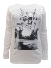 S OLIVER LYNX SKULL tshirt top long sleeves size 14 16 BRAND NEW DISPLACEMENT