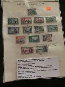1939 Gilbert and Ellice Islands various stamps 1d, 1/2d, 1 1/2d, 2d,  Mint E61