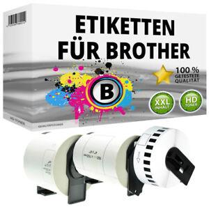 Etiketten kompatibel Brother P-Touch QL 1050 1060 500 550 570 650 700 710 720 NW