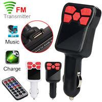 Wireless MP3 Player FM Transmitter Modulator Car Kit USB Charger SD w/ Remote UK