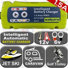 Plug n Leave 1.5A 6v-12v Intelligent Bike Jet Ski Golf Trolley Battery Charger