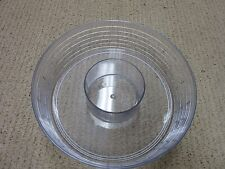 Longaberger Round Serving Basket Plastic Chip and Dip Divided Protector