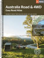 Australia Road and 4WD Easy Read Atlas Map - 12th Edition - Hema 293 x 396mm