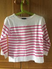 Captain Corsaire Breton Striped Pink and White Top Girls 6 Years 100% Cotton