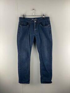 Kenneth Cole New York Mens Dark Blue Denim Mid Rise Straight Leg Jeans Size 30