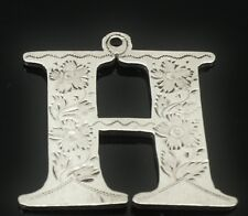 Silver CROSSE ou HOLLANDS DECANTER LABEL, LONDON 1830, Robert Hennell II