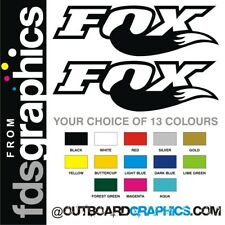 Pair of LARGE Fox Racing stickers/decals - 710mm x 220mm