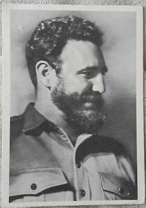 Fidel Castro !CUBA! 1963 RARE Propaganda unposted postcard