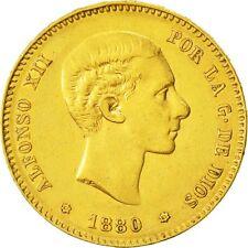 [#473396] Monnaie, Espagne, Alfonso XII, 25 Pesetas, 1880, Madrid, TTB+, Or