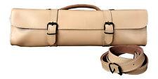 Trevor James Leather Flute Case Cover/Bag - Creme Brulee