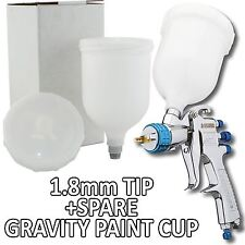 Devilbiss SLG-620 Spray Gun Gravity Feed 1.8mm Solvent Paint/Primer + Spare Cup