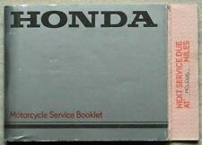 HONDA Motorcycle Service Booklet 1984