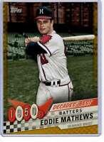 Eddie Mathews 2020 Topps Decades Best 5x7 Gold #DB-12 /10 Braves