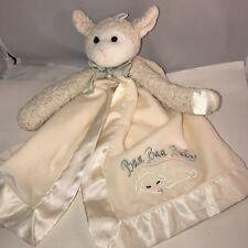 "Bearington Baby Lamby Snuggler Plush Lamb Security Blanket Lovey Cream 15"" silky"