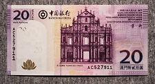 Macau 20 Patacas 2008 Bank of China P-109 Au-Unc.